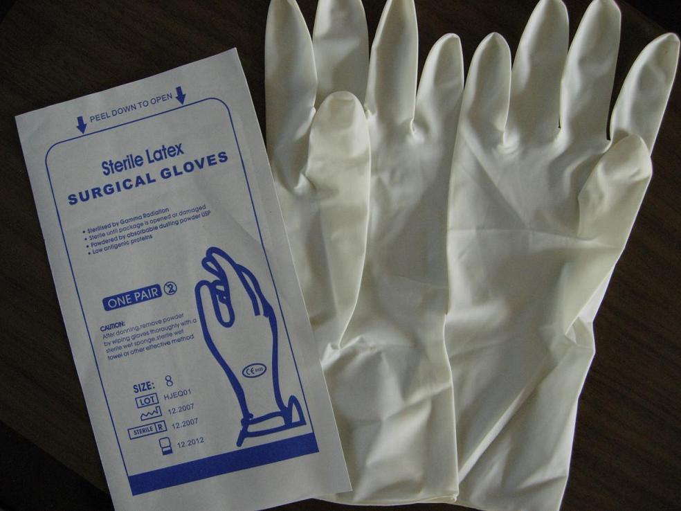 Хирургические перчатки из латекса оптом из Китая