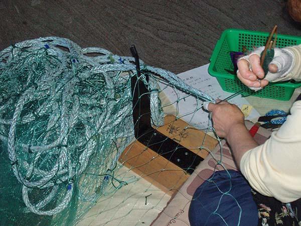 Посадка рыболовных сетей своими руками фото